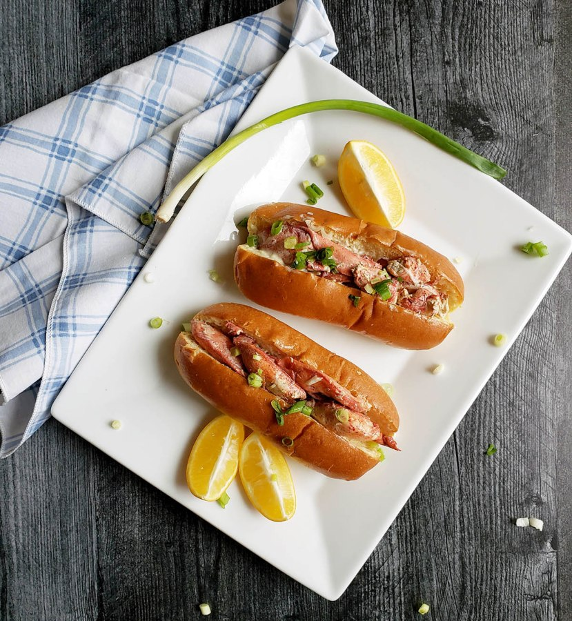 Santa Barbara Spiny Lobster Rolls & Rose Wine in a Can