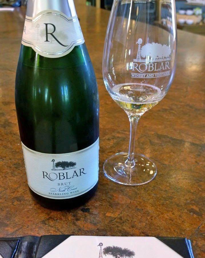 Roblar Winery sparkling wine in Los Olivos, CA