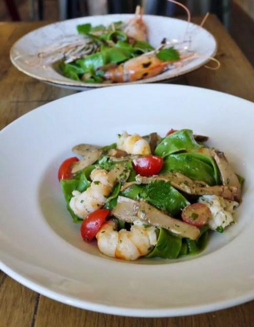SY Kitchen Nettle Shrimp Pasta 2 - Liz Dodder CaliCoastWine