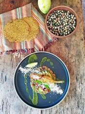 Oaxacan Corn Goat Cheese Stuff Squash Blossom Taco at Valle Fresh
