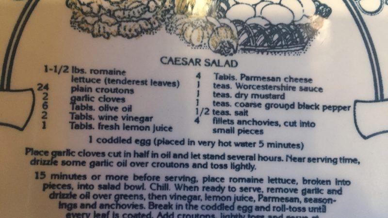 A Good Caesar Salad Recipe