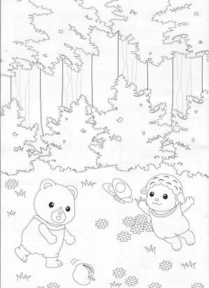 Calico Critters Coloring Page 1