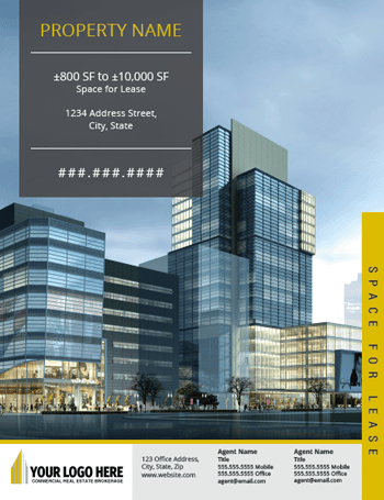 Financial Template For Business Plan      commercial real estate     Financial Template For Business Plan      commercial real estate brochure  template