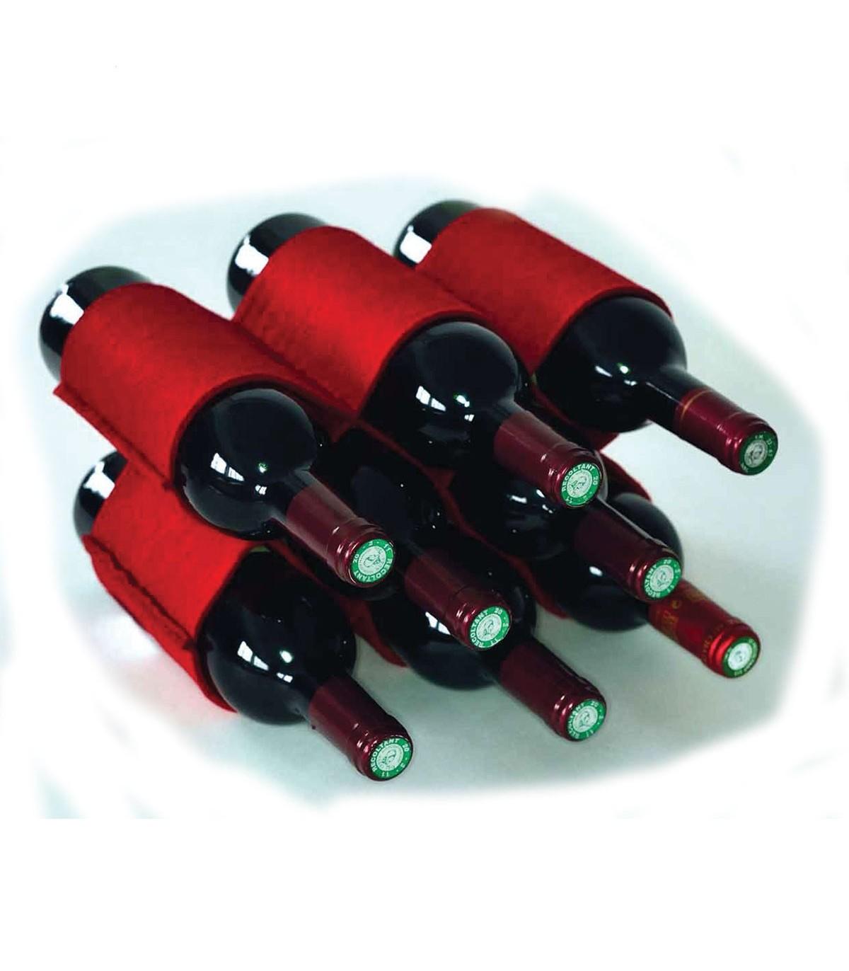 range bouteille de vin en feutrine pas cher