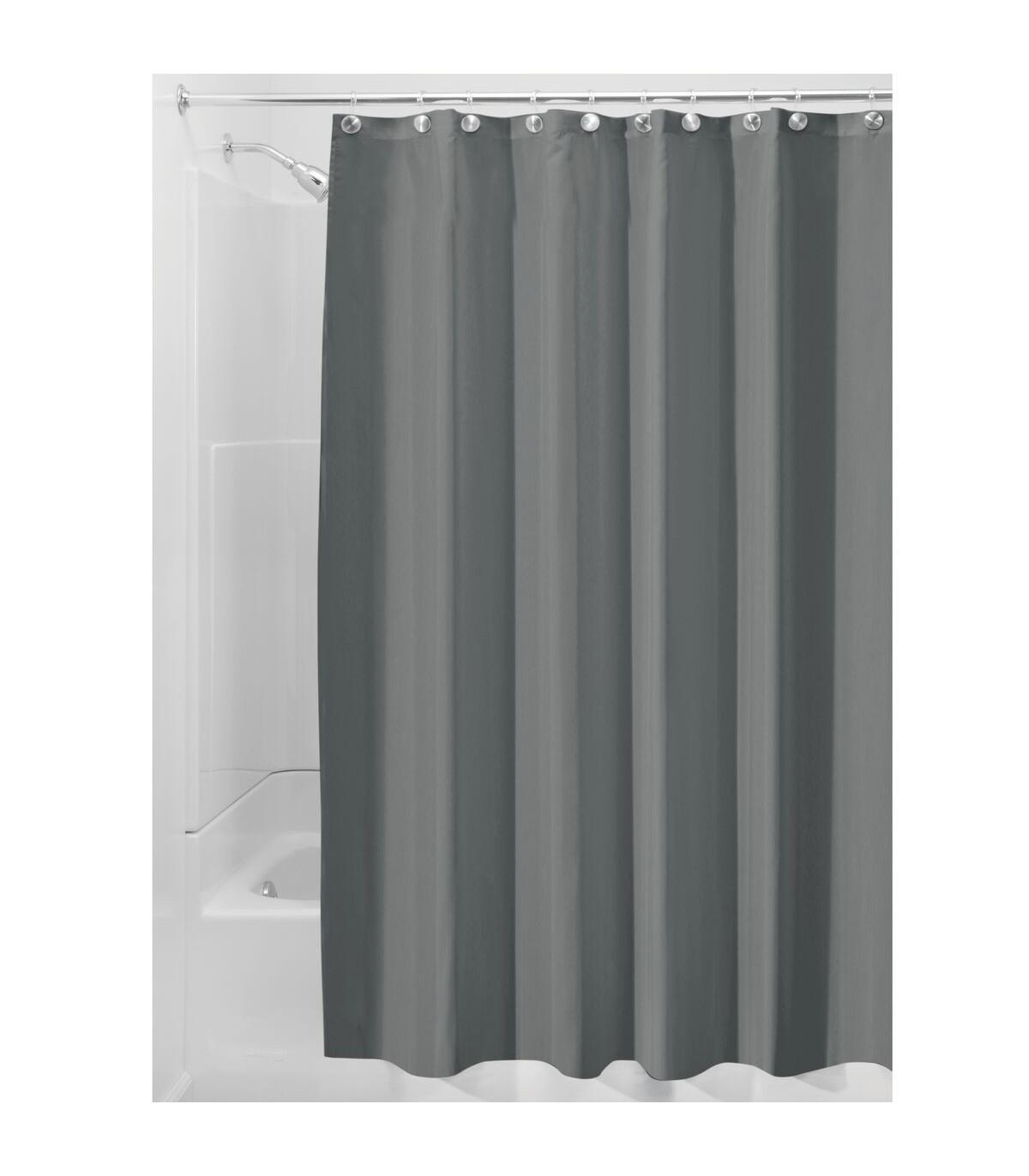 rideau de douche gris en polyester 180 x 200 cm