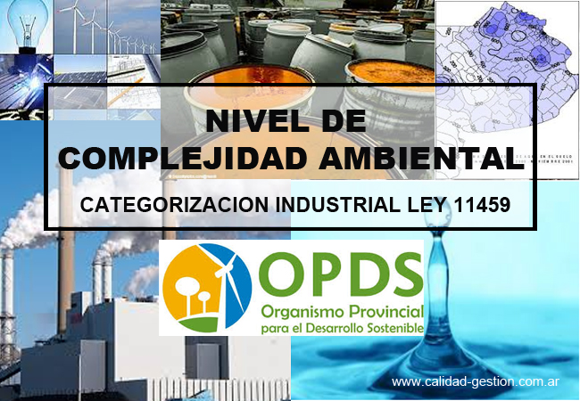 CATEGORIZACION INDUSTRIAL - LEY 11459