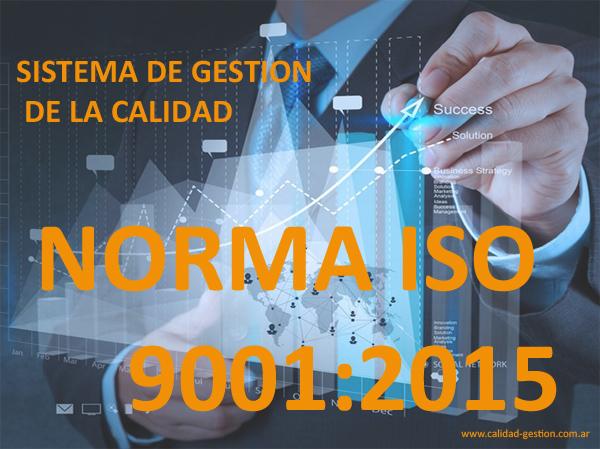 NUEVA ISO 9001:2015 - SISTEMA DE GESTION DE CALIDAD