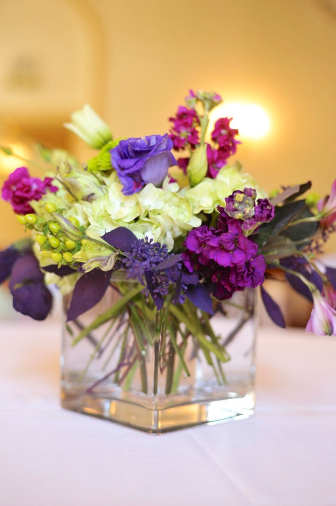 Purple And Green Wedding Tables