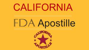California FDA Apostille