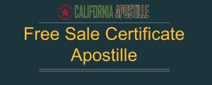 Free Sale Certificate Apostille