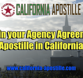 California Agency Agreement Apostille