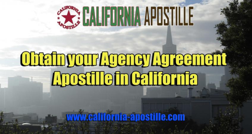 California Agency Agreement Apostille