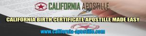 birth certificate apostille california