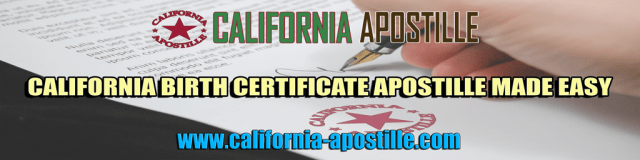 birth certificate apostille california