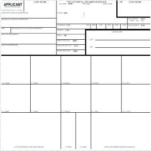 standard fingerprint form fd-258