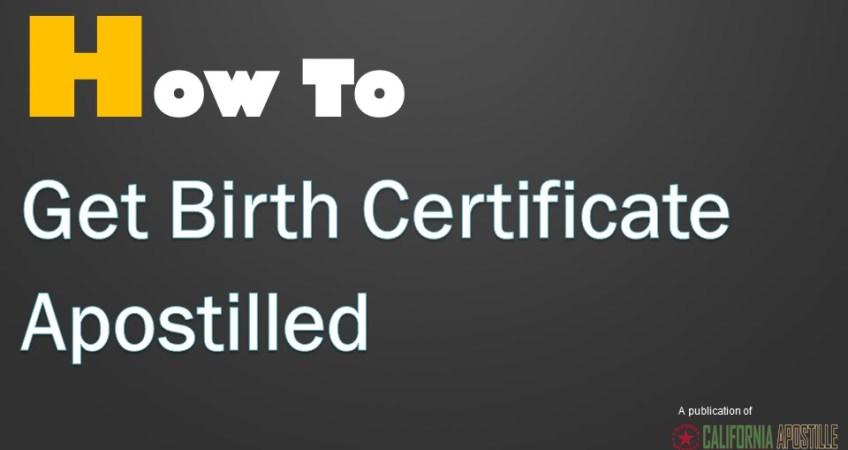 birth certificate apostille LA