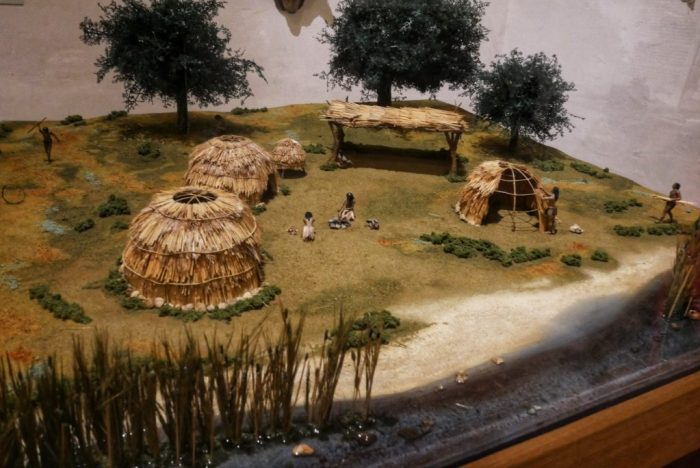 A model of a native (Salinan) village as might have looked prior to Spanish contact. From the Mission San Miguel Arcángel Museum.