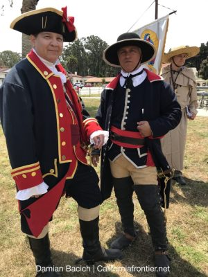 Volunteers portray Spanish Soldiers at the SF Presidio