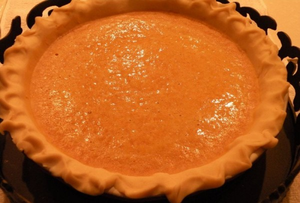 Favorite fresh pumpkin pie