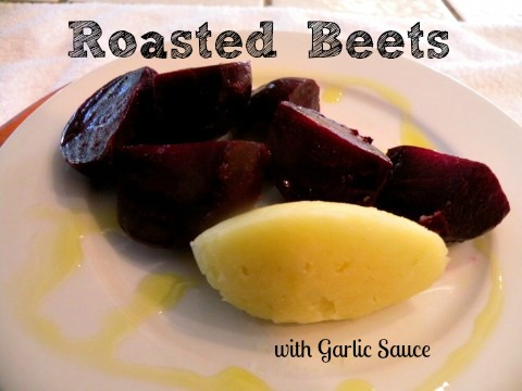 """Post image for Roasted Beets with Potato Garlic Sauce –""""Patzaria"""""""