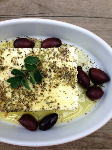 Roasted Feta with Kalamata Olives