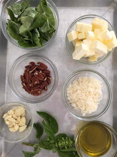 pesto-mise en place