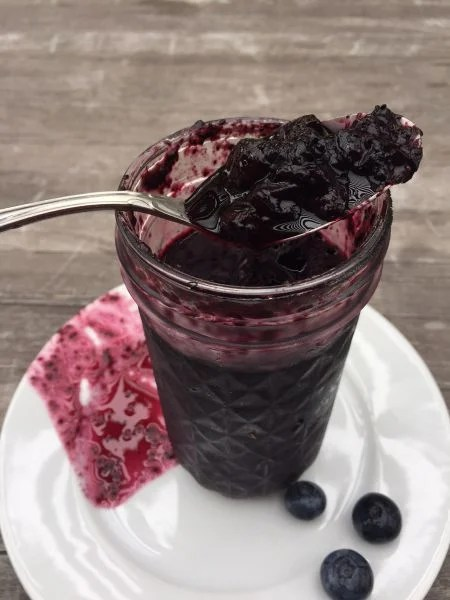blueberry red apple vinegar jam