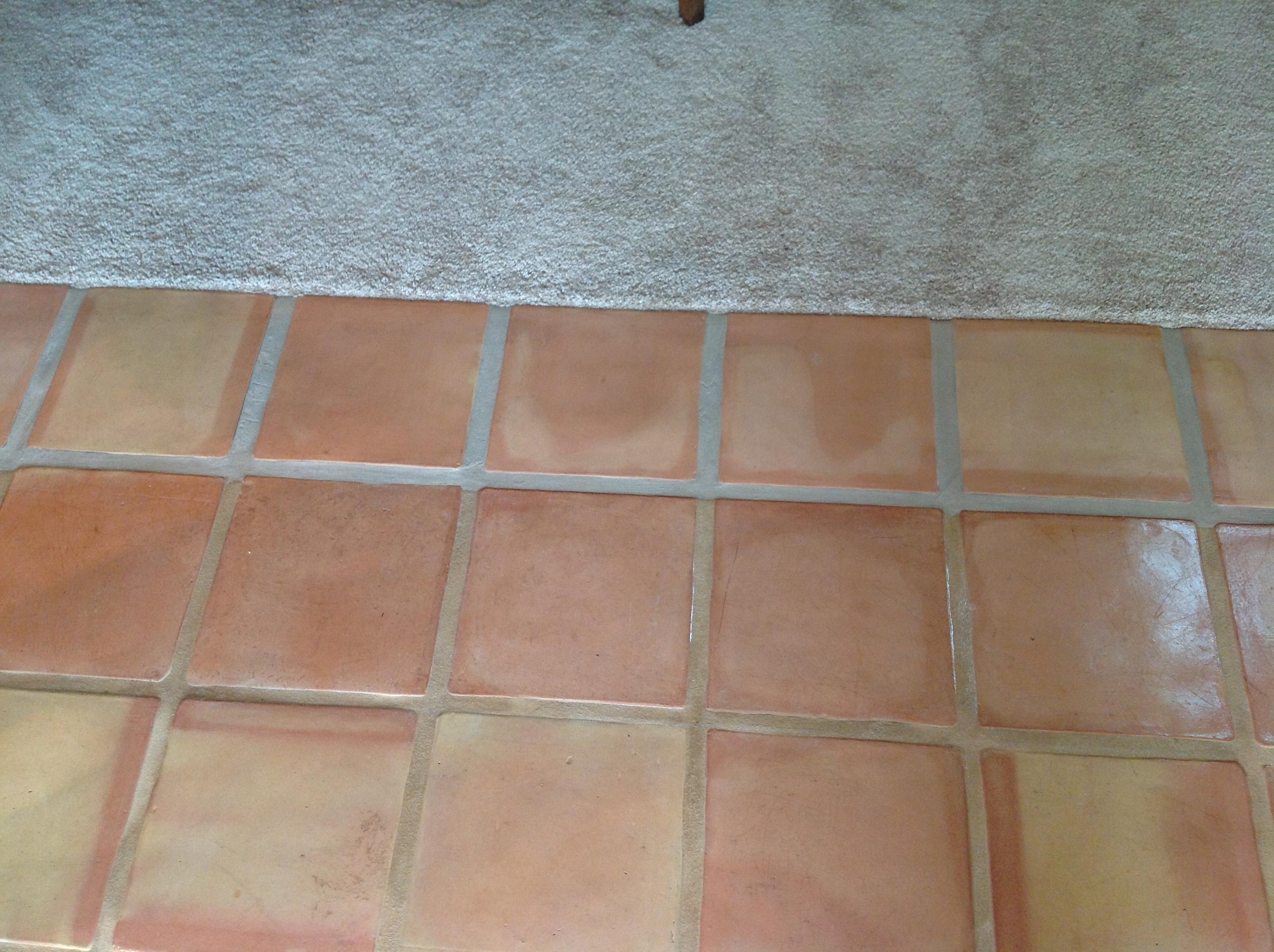 saltillo tile dirty peeling dull