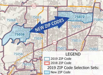 Maptitude 2019 includes the most up-to-date data