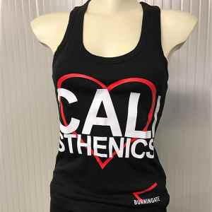 canotta calisthenics donna nera
