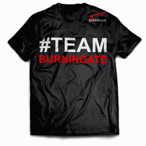 TShirt black #TEAMBURNINGATE