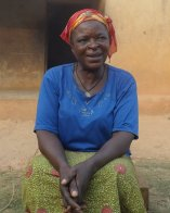 Odey Cecilia, a widow in Utugwang full of smiles and praise to DR PETER OTI