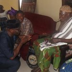 Perm Sec, Min of Info, Freedom Ejom exchanging pleasantries with the Yakurr monarch