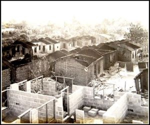 Picture of a large section of Ugep, completely razed during the massacre.