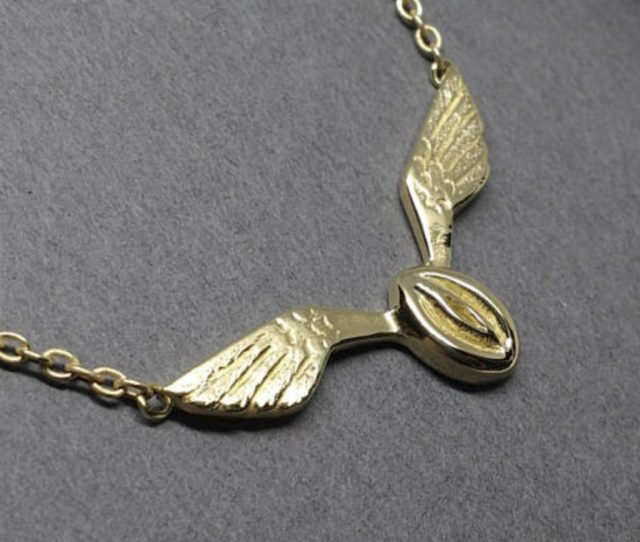 Calling All Over  Harry Potter Fans Who Are Also Into Erotica This Necklace Is Hysterically Called The Flying Snatch Cough Cough Must Stop Laughing