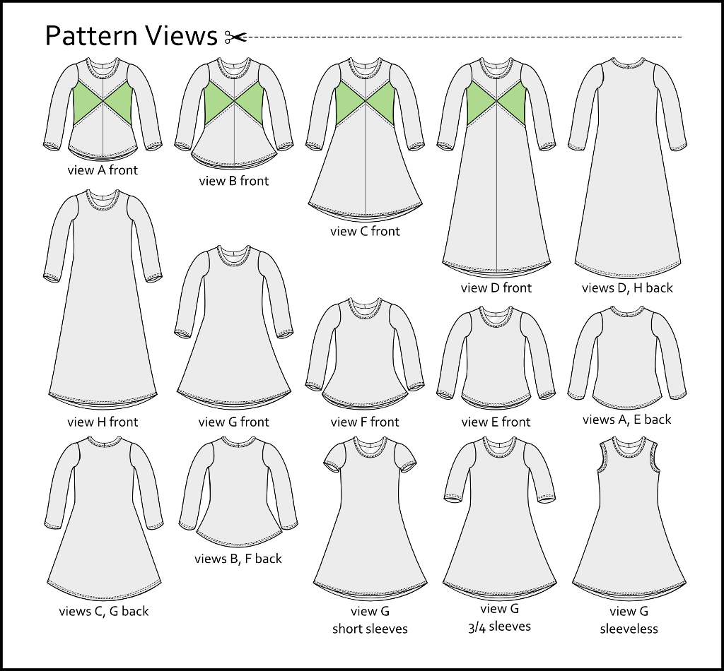 Crossroads dress pattern release views