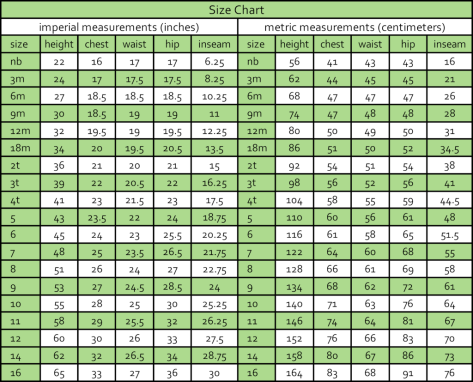 Diamondback Leggings Size Chart