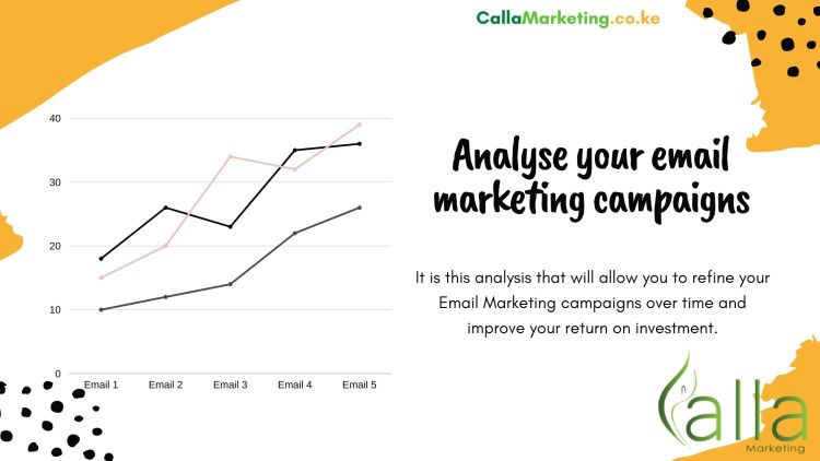 Analyze and optimize your email marketing campaigns