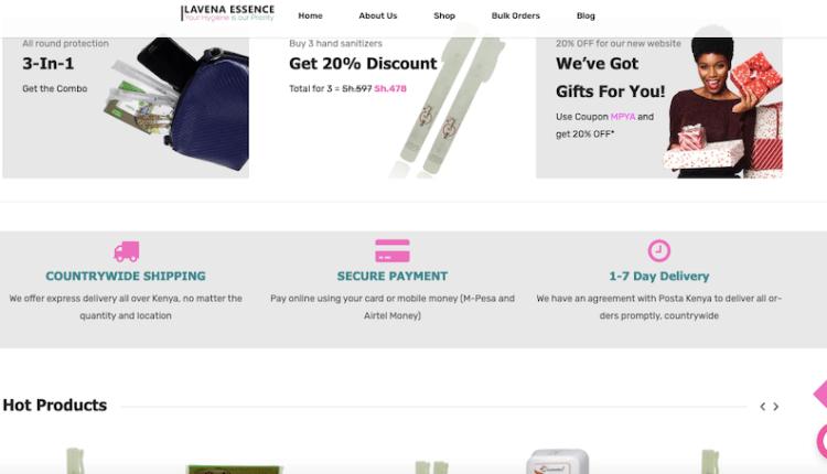 lavena essence website