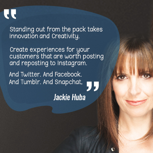 Standing out from the pack takes innovation and Creativity. Create experiences for your customers that are worth posting and reposting to Instagram. And Twitter. And Facebook. And Tumblr. And SnapChat
