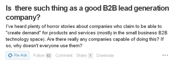 Is ther such thing as a good b2b lead generation company?