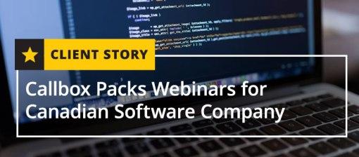 Callbox-Packs-Webinars-for-Candian-Software-Company