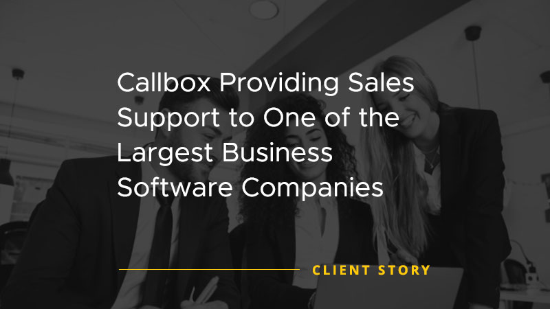 Case Study: Callbox Provides Maximum Marketing Support for Talent  Management Solutions Leader - cover