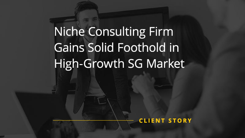 Niche Consulting Firm Gains Solid Foothold in High-Growth SG Market