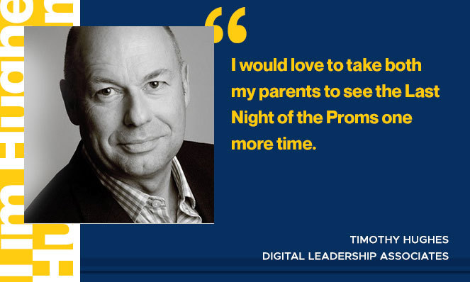 Photo of Timothy Hughes with quote