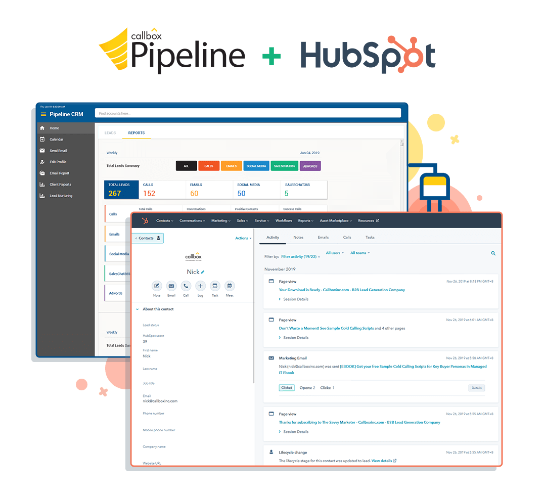 Pipeline integrated into HubSpot CRM