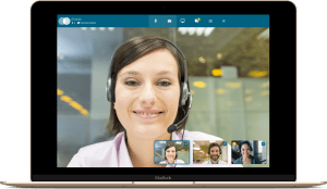 Video Conference Lady