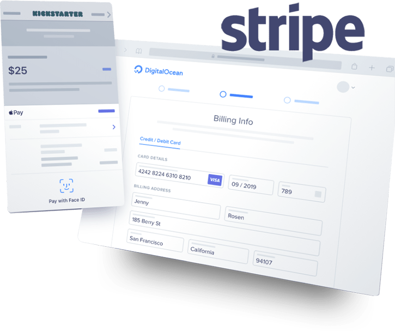 callbridge online meeting system integration with stripe