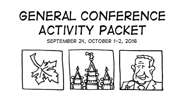 lds conference packet