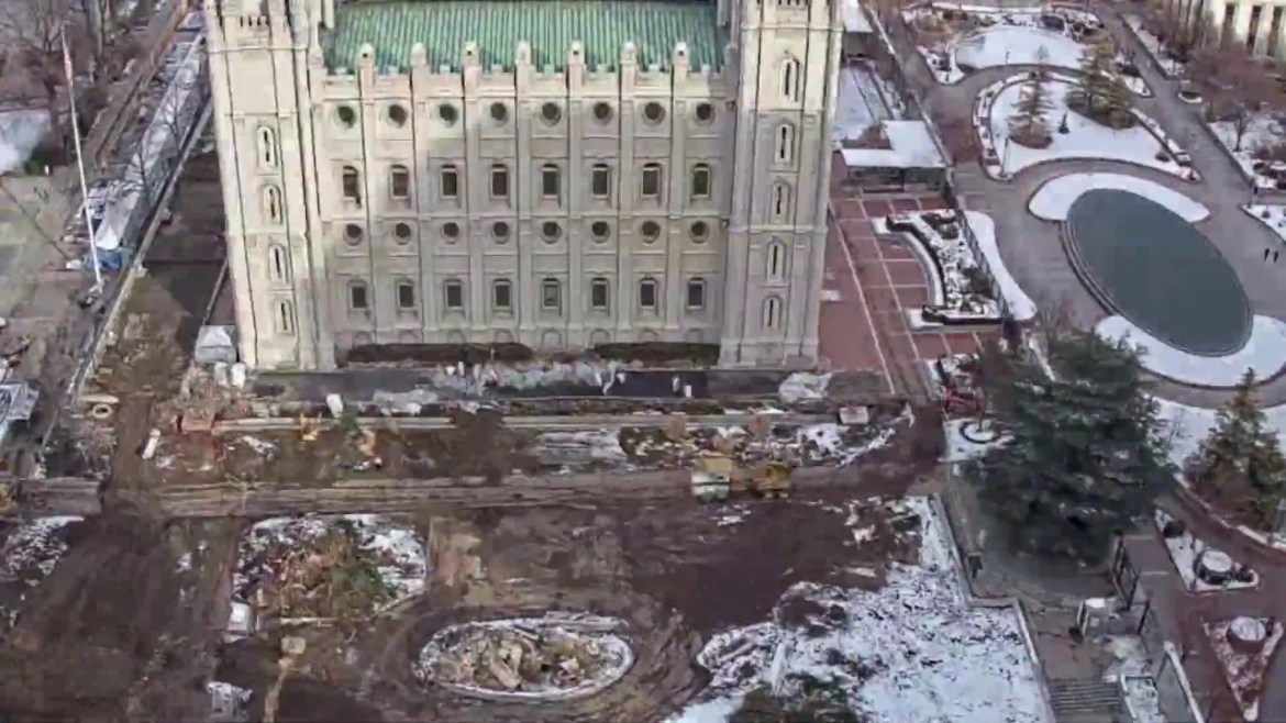 salt lake temple timelapse renovation